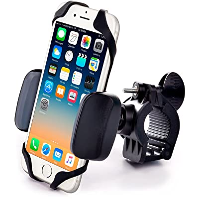 Metal Bike & Motorcycle Phone Mount - for Any Smartphone (iPhone 11 Pro, Xr, Xs Max, S20). Unbreakable Handlebar Cell Phone Holder for Bike & Bicycle