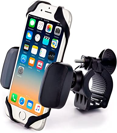 Bicycle Reliable Handlebar Phone Holder for Any Smartphone Scooter Phone Mount iPhone 11, Galaxy S20 - Makes Your Bike Rides Safer Motorcycle
