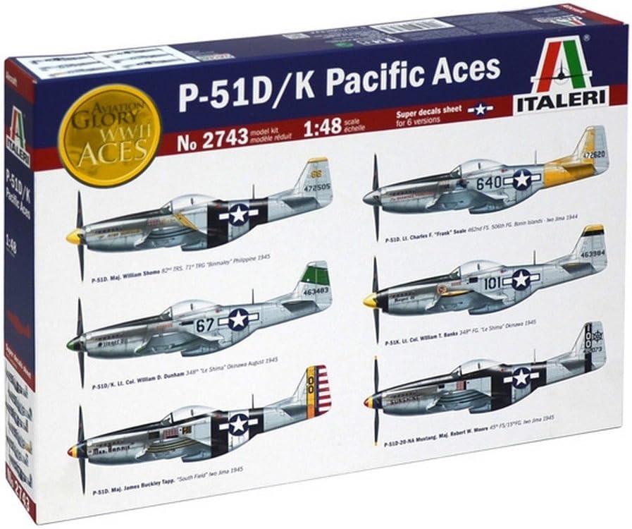 イタレリit2743 p51 D / K Pacific Acesキット1 : 48 Modellinoモデル