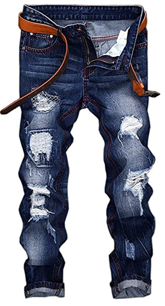Pantalones Vaqueros De Los Hombres Slim Jeans Skinny Fit ...