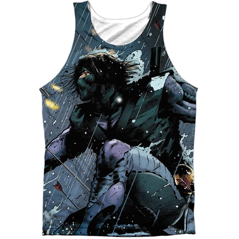 Ninjak Comics Superhero Raining Arrows Ninjak Leap Front Print Tank Top Shirt