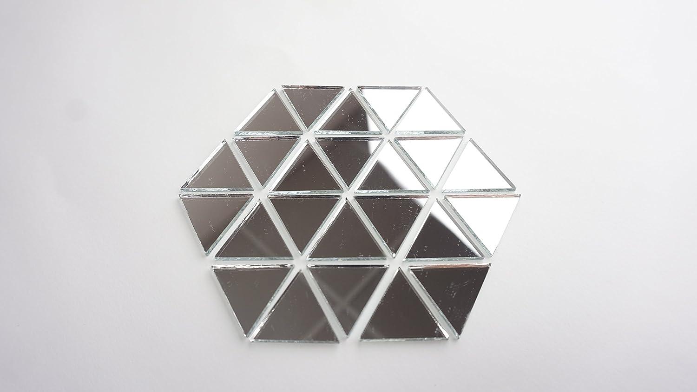 "Aleksander Hreben 1"" Triangle Mirror Mosaic Tile. 100 pcs"