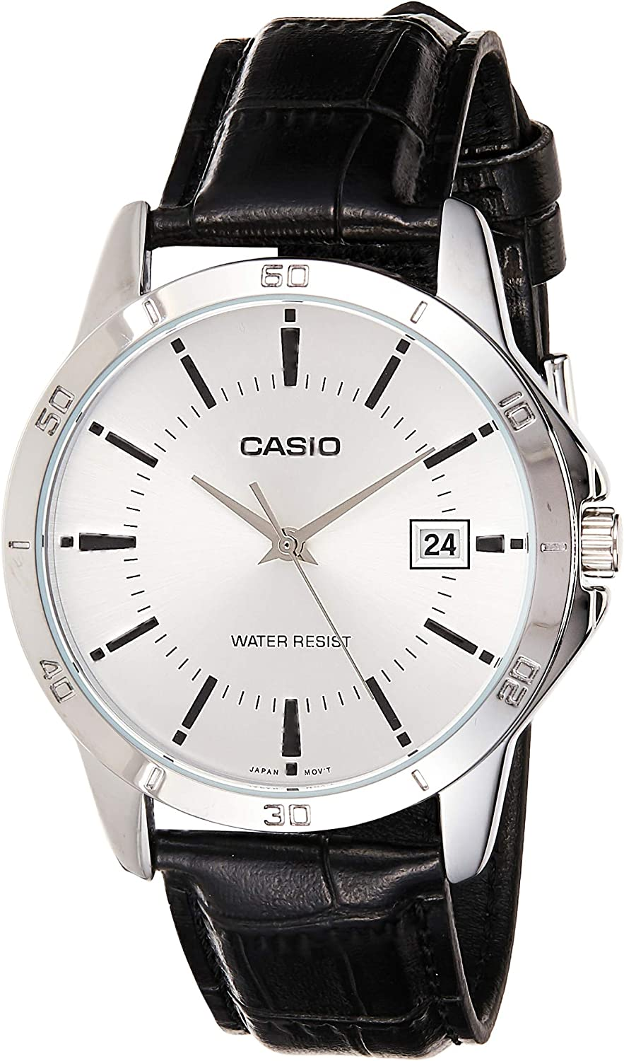 Seiko Men s Analogue Classic Solar Powered Watch with Leather Strap SUP880P1