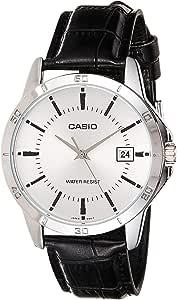 ساعة انالوج معيارية للرجال من كاسيو بمينا من الستانلس ستيل مع نافذة لعرض التاريخ