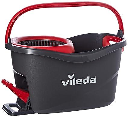 Vileda Easy Wring & Clean Turbo - Juego de fregona, Color Negro y Rojo,