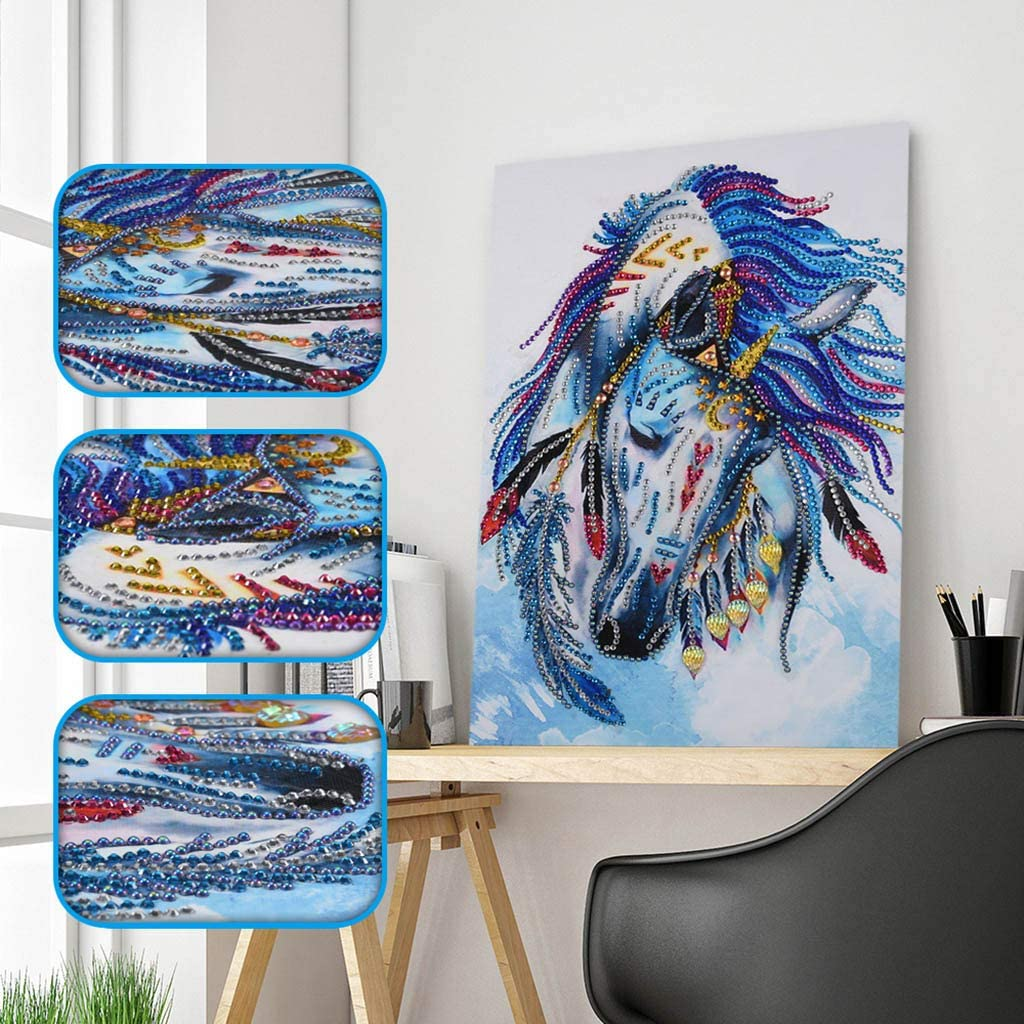 DIY Full Round Drill Diamond Rhinestone Painting Kits for Adults and Children Embroidery Arts,Cross Stitch Arts,Craft Home Decor Art Paintings 30x40cm 5D Diamond Painting