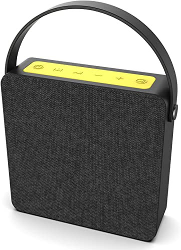 PUNKBOX Portable Wireless Bluetooth Speaker, Loud Powerful Dual HD Speakers W Enhanced Bass, AUX Input, Rechargeable Hands Free Speakerphone W Noise Cancellation Mic for iPhone Android Black