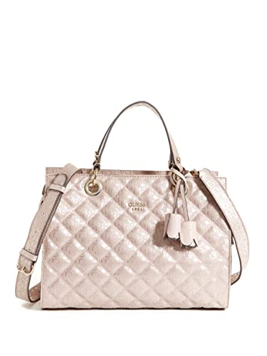Guess Women's Seraphina Quilted Pink Gloss Satchel Handbag