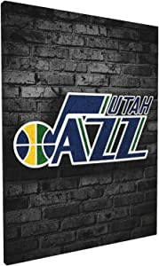 Mabell Jazz_Basketball Sports_Utah Canvas Wall Art Abstract Print Home Decor - Basketball Picture Paintings Artwork for Living Room Bedroom Decoration Framed Poster Ready to Hang One Size