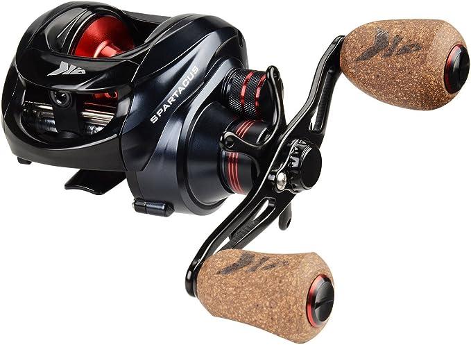 KastKing Spartacus Baitcasting Fishing Reel Ultra Smooth 17.5 LB Carbon Fiber Drag, 6.3:1 Gear Ratio,11 + 1 Shielded Ball Bearings, Rubber Cork Handle ...