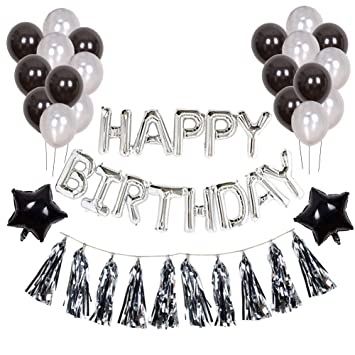 Toupons Birthday Decorations 70th Party Supplies Sets Happy Banner Bunting For