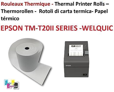20 bobinas del cajón de 80 x 80x 12 mm de papel térmico para cajas ...