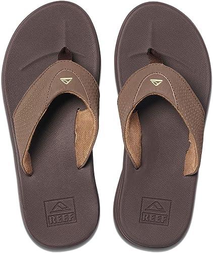 Men/'s Shoes Reef ROVER Casual Flip Flop Sandals RF002295 BROWN ORANGE