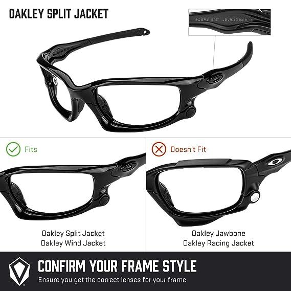 df19c26ccb Amazon.com  Revant Polarized Replacement Lenses for Oakley Split Jacket  (Asian Fit) Elite Black Chrome MirrorShield  Sports   Outdoors