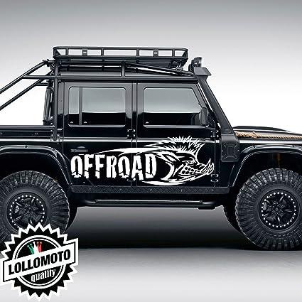 Kit 2x Adesivi Cinghiale Offraod Fuoristrada Fiancate Cofano Jeep