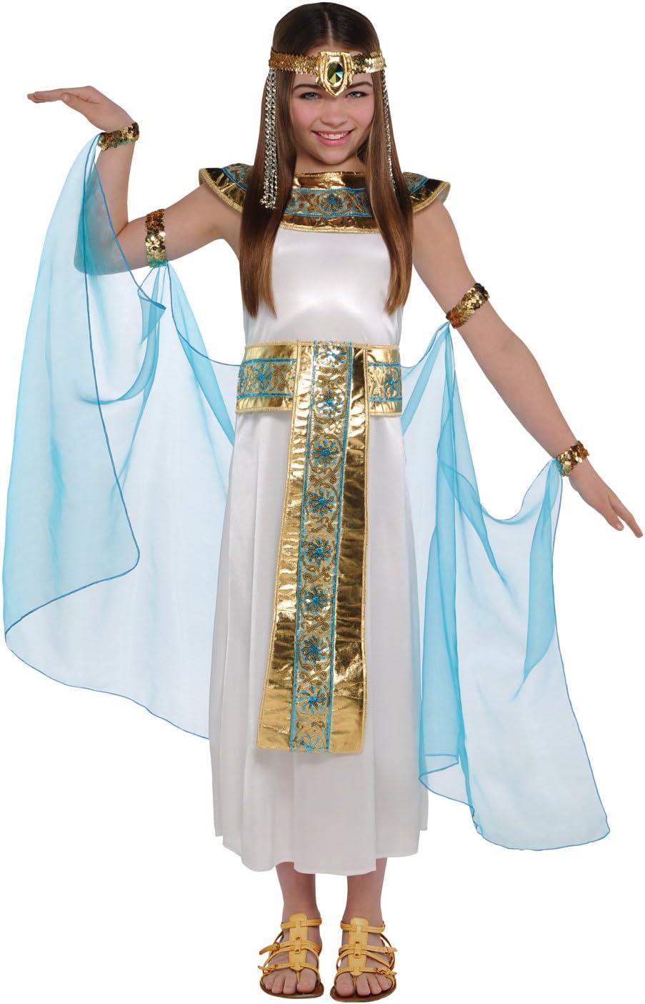 Donne Capelli DECOR EGIZIANA CON PERLINE HEADDRESS CLEOPATRA Bracciale Fancy Dress Costume