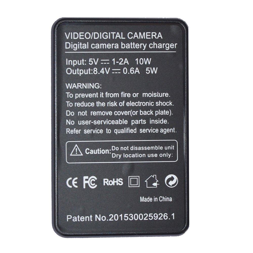 SEIWEI NB-10L NB10L USB Camera Battery Charger with Screen for Canon G15 G1X G16 SX50 SX40 G3X SX40HS SX50HS SX60HS (Black)