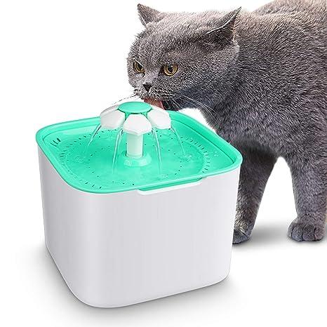 Gato Perro Bebedero Automático Fuente de Agua Inteligente con Sensor de Infrarrojos, 2 L Fuente