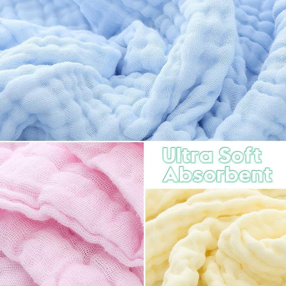 BOENTA muslin washcloth cotton/towels baby/bath/towel baby/towel milk wipes muslin/towel face/towel baby/washcloths ultra absorbent towel organic/face/towel