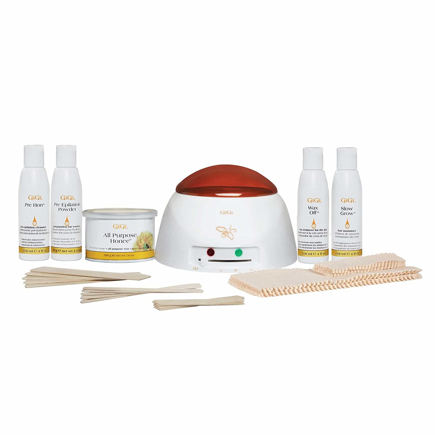 GiGi Professional Grade Waxing Hair Removal Student Starter Kit with Warmer AII (Gigi NailTek Model Seche)