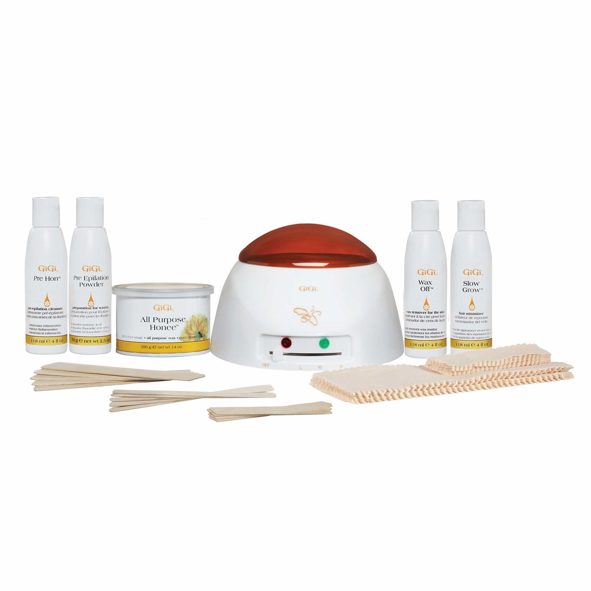 GiGi Professional Grade Waxing Hair Removal Student Starter Kit with Warmer