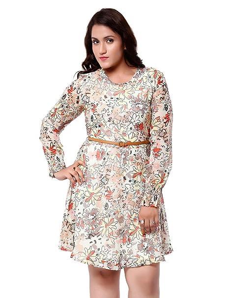 debc95de20a Oxolloxo Women s Plus Size Dress (W15225PDR001 5XL Multi-Coloured XXXXX- Large)