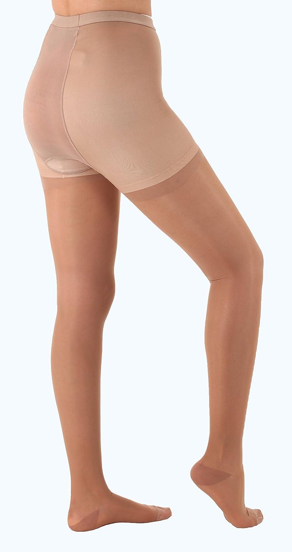 Sheer Compression [Alternative dealer] Firm Support Pantyhose - Beige 20-30mmHg Smal Max 80% OFF