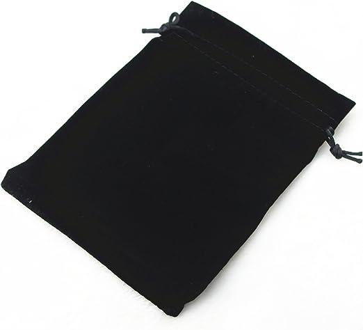 100 Black Velvet Drawstring Velour Pouch Jewelry Baggie Ring Gift Bag Pouch Set