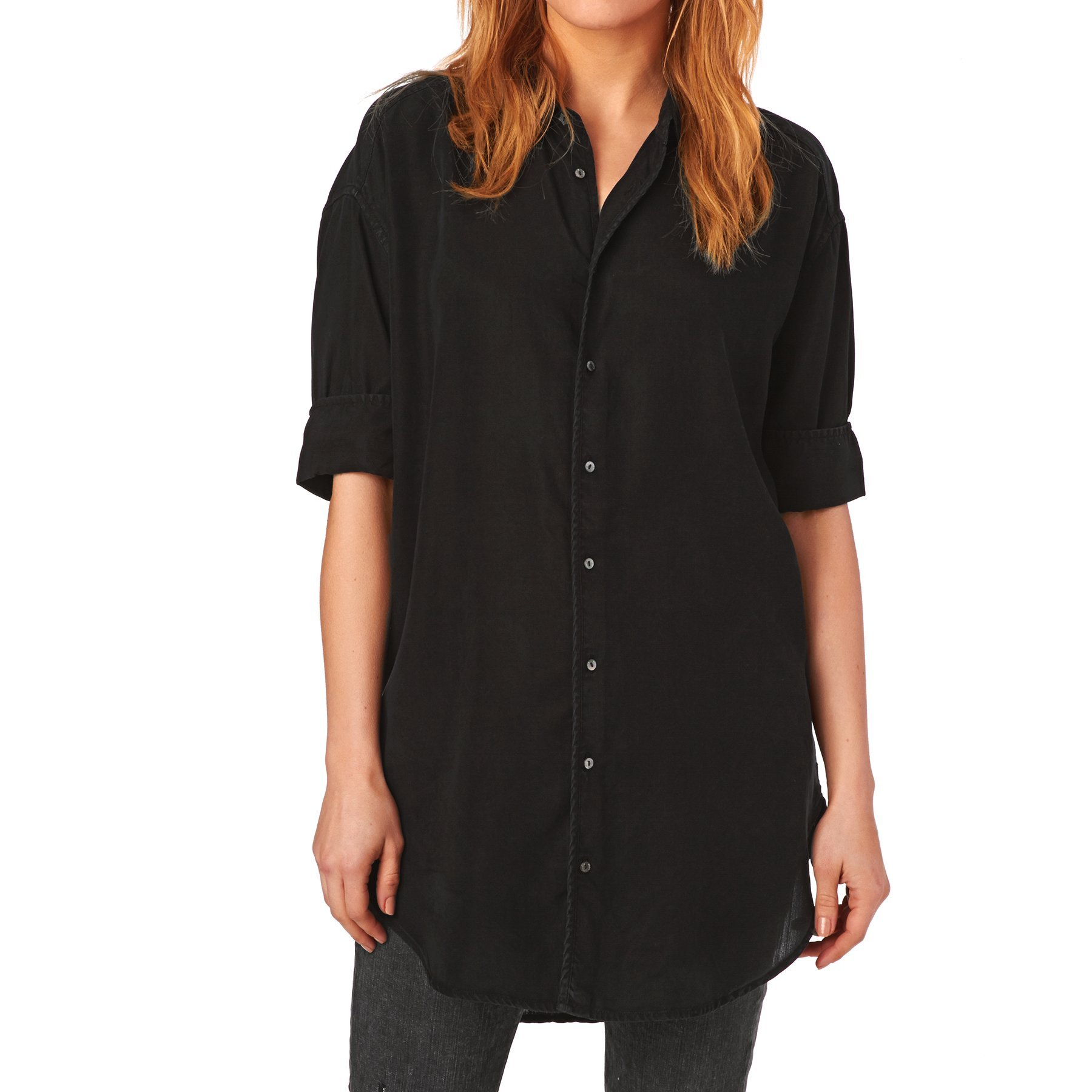 Maison Scotch Shirts Drapey Summer Shirt - Black