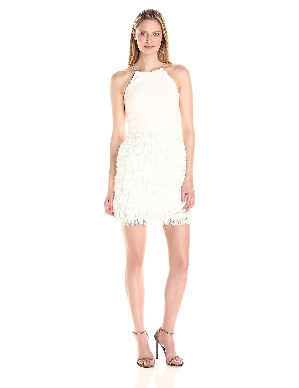 Amazon.com: Aidan by Aidan Mattox Women\'s Crepe Cocktail Dress With ...