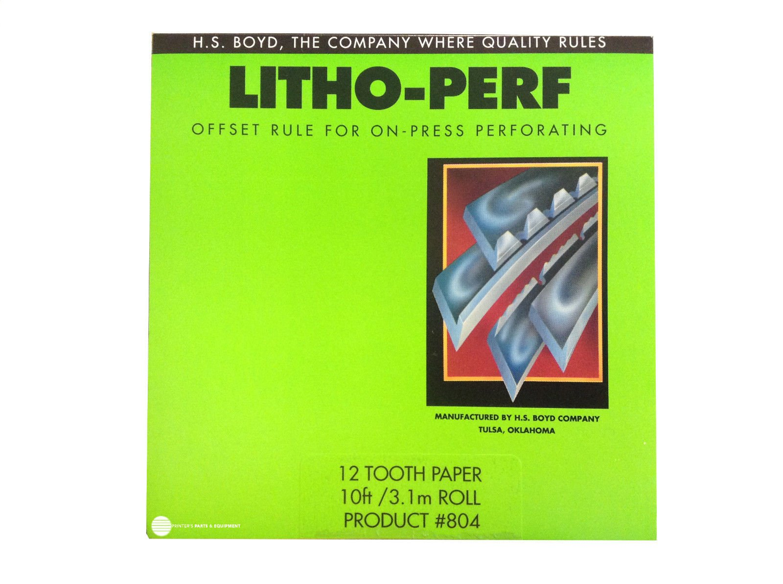 HS BOYD Litho-Perf 12 Tooth 10 feet Paper Product # 804