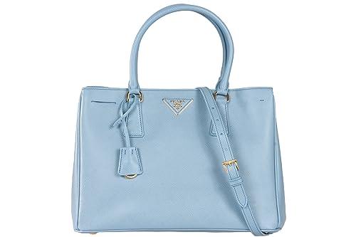 34dee8605cd2 ... reduced prada authentic bn1874 astrale blue handbag leather saffiano  lux bag 5aad1 42812