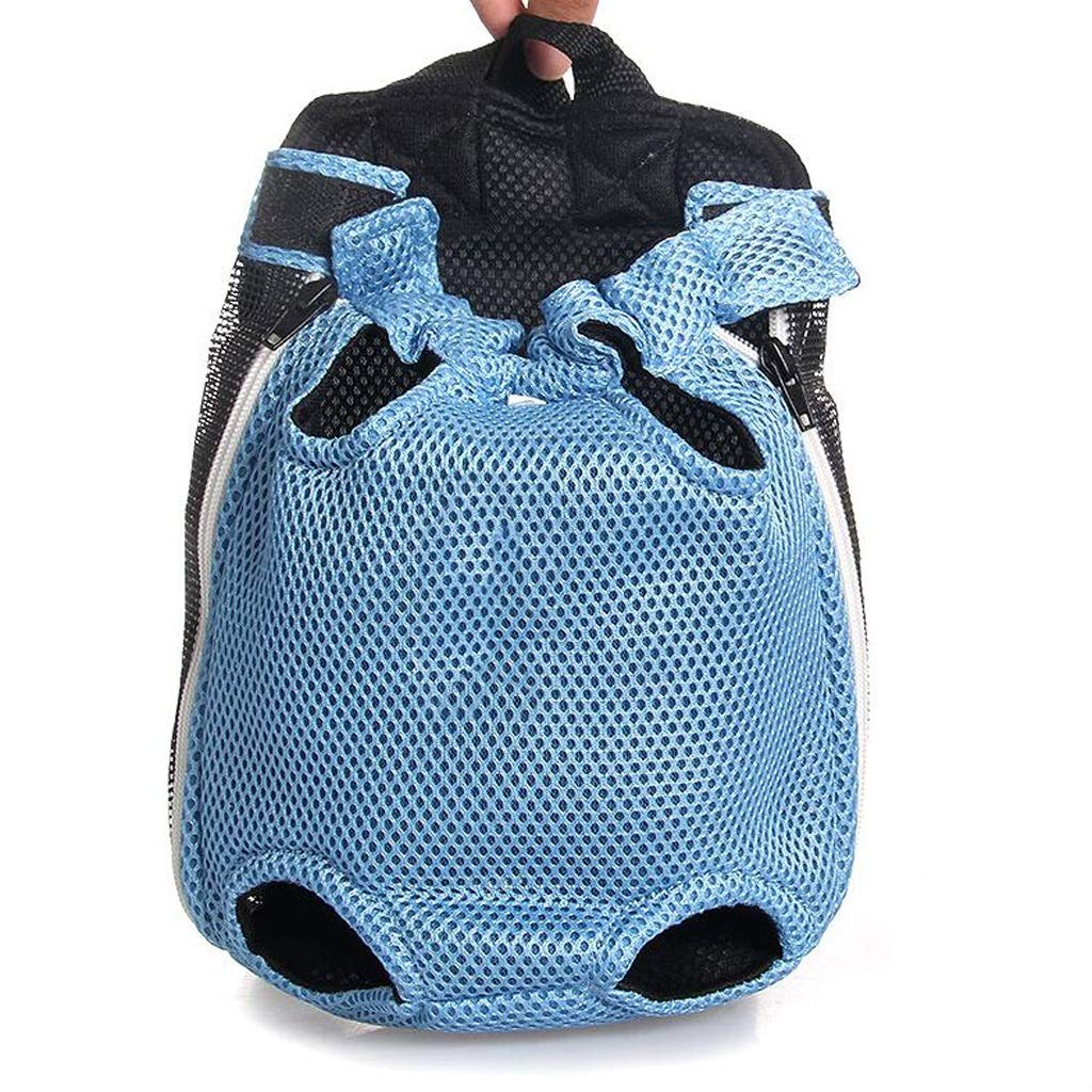 FJH Pet Chest Pack Dog Travel Out Portable Shoulder Bag Teddy Dog Cat Small Dog Universal Breathable Backpack (color   bluee)
