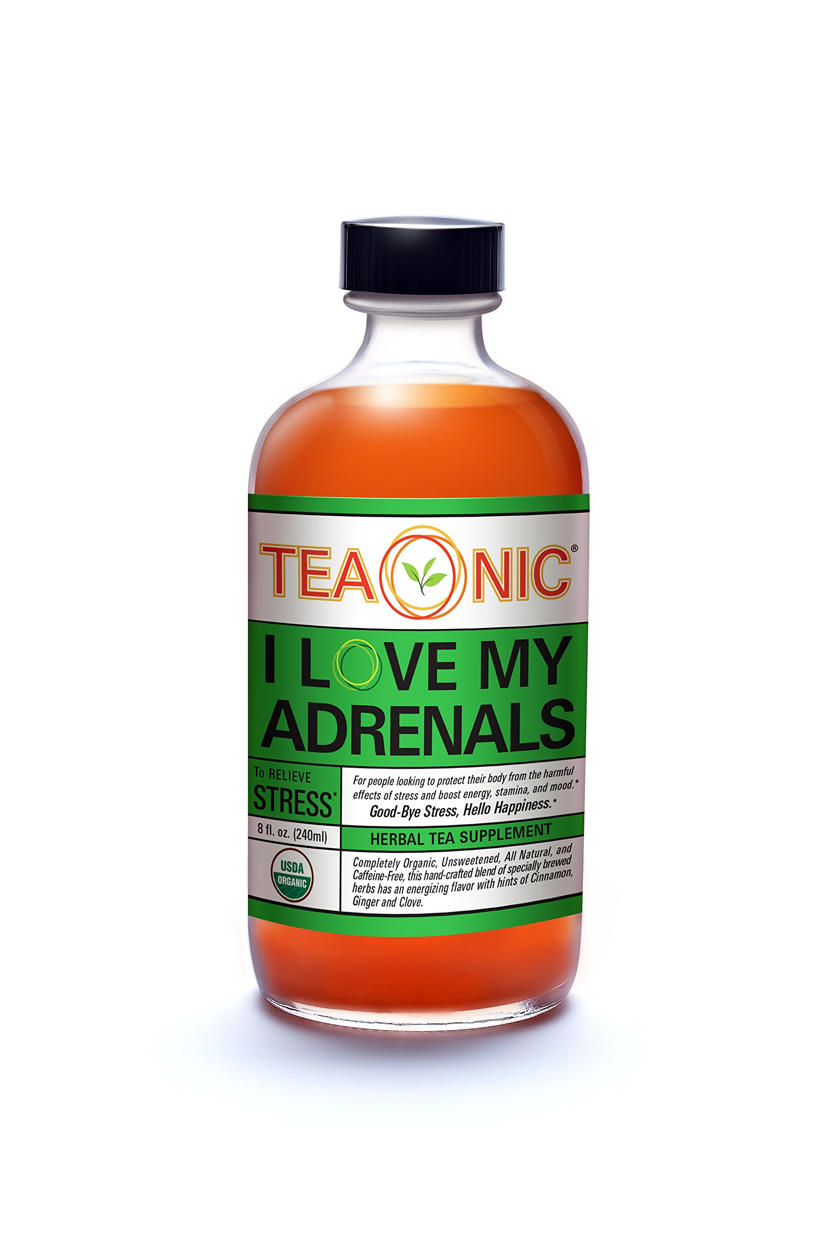 Teaonic Herbal Tea | I Love my Adrenals to Relieve Stress | Cinnamon, Clove & Ginger (12 Pack)