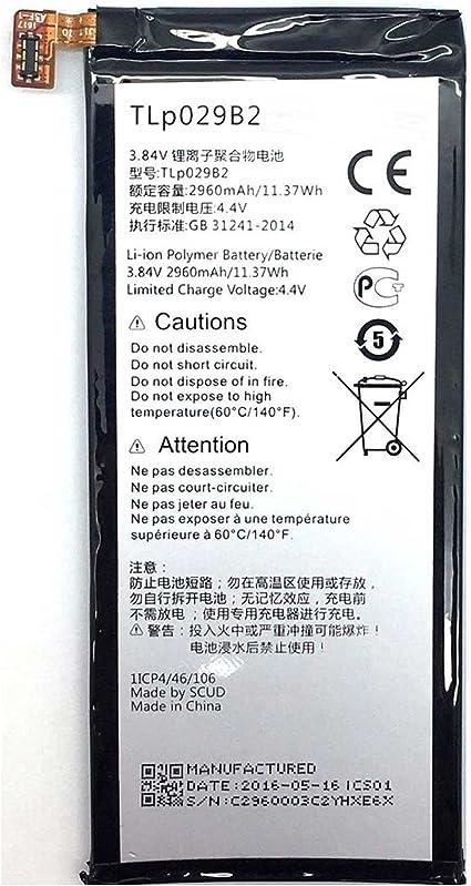Shine Plus 2960mAh OT-5095 TLp029B2 TLp029B1 Todobarato24h Bateria Alcatel Vodafone Smart Ultra 7 One Touch Pop 4S Pop 4S LTE