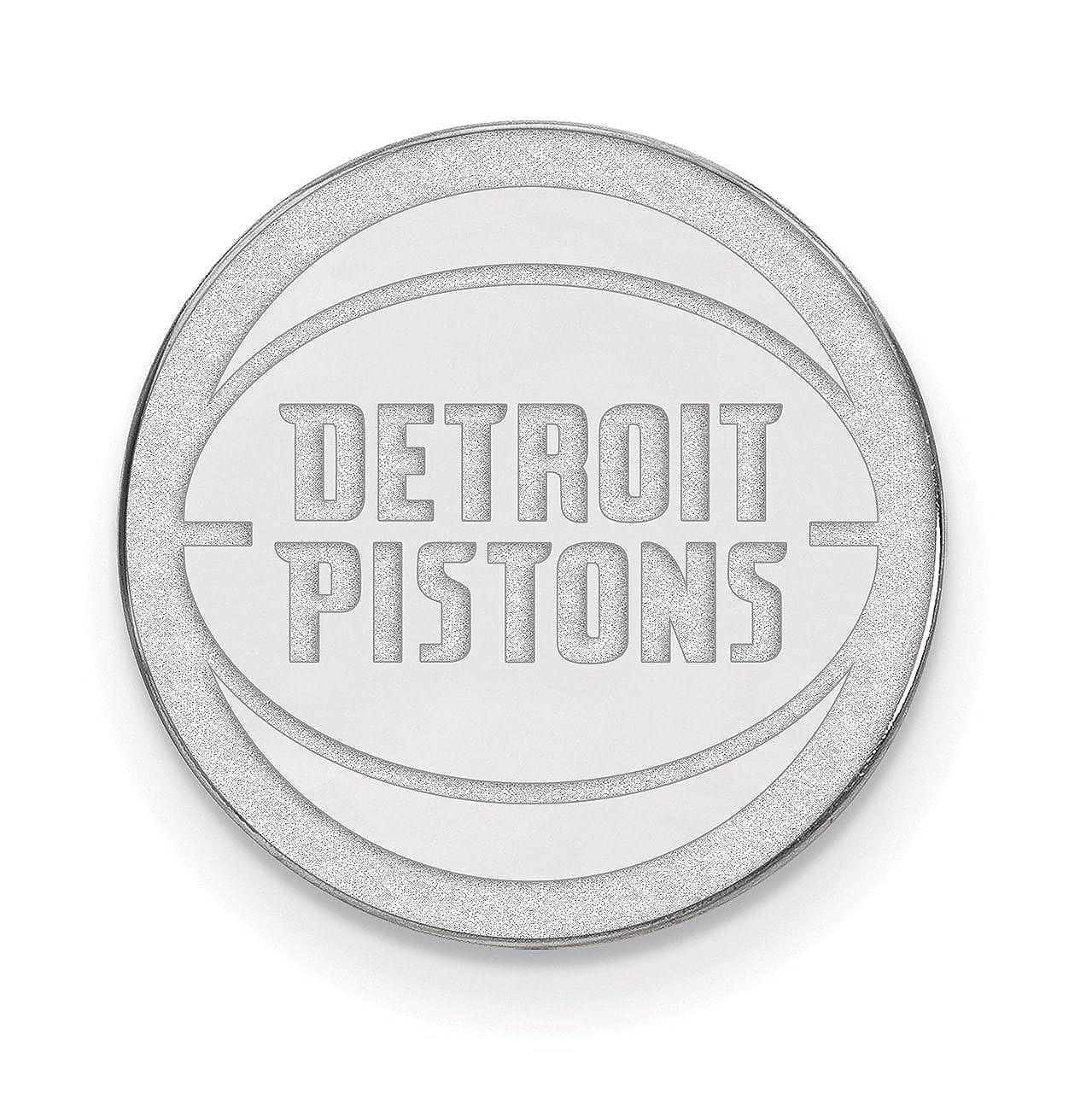 Lex & & & LU logoart Sterling Silber NBA Detroit Kolben schwarz aus Leder mit Geld-Clip B07FRW6F51 Herren 8ce821