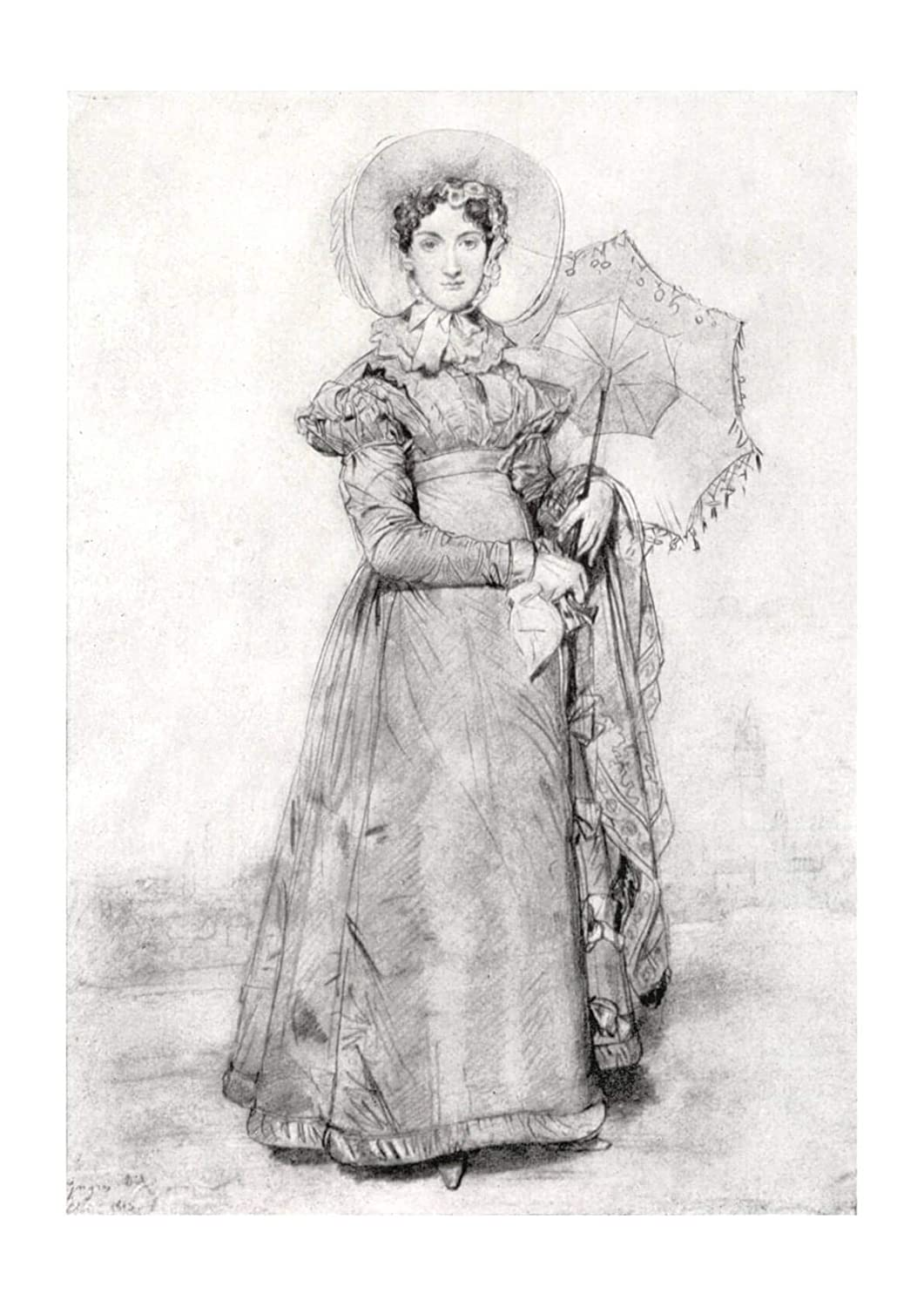Spiffing Prints Jean Ingres - Sketch of Woman - Large ...