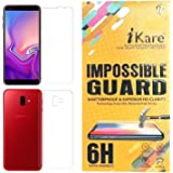 iKare Sajni Creations Front and Back Tempered Plastic Fibre Unbreakable Flexible Screen Guard Protector for Samsung Galaxy J6 Plus (Transparent)