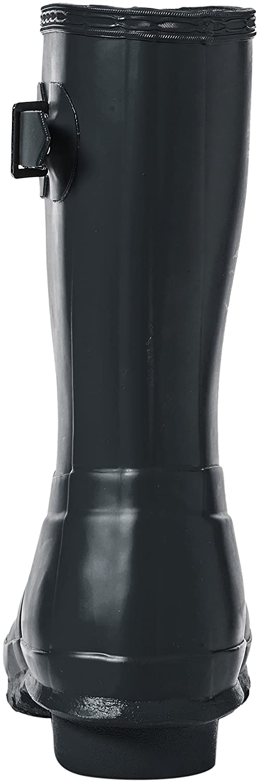 Hunter Women's Original Short Rain Boot B01MS8P8WX 5 B(M) US|Dark Slate