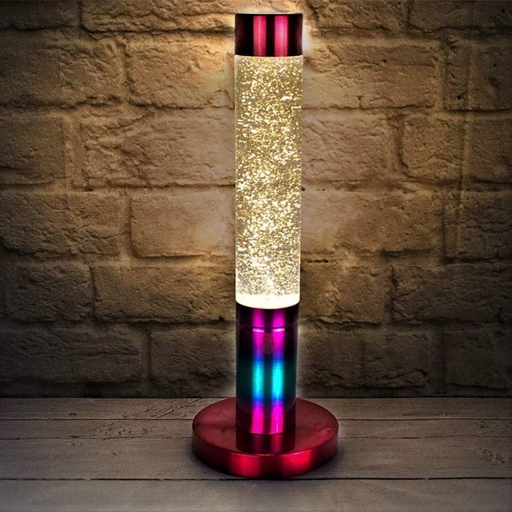 The Glowhouse Lavalampe mit Regenbogen-Glitzer