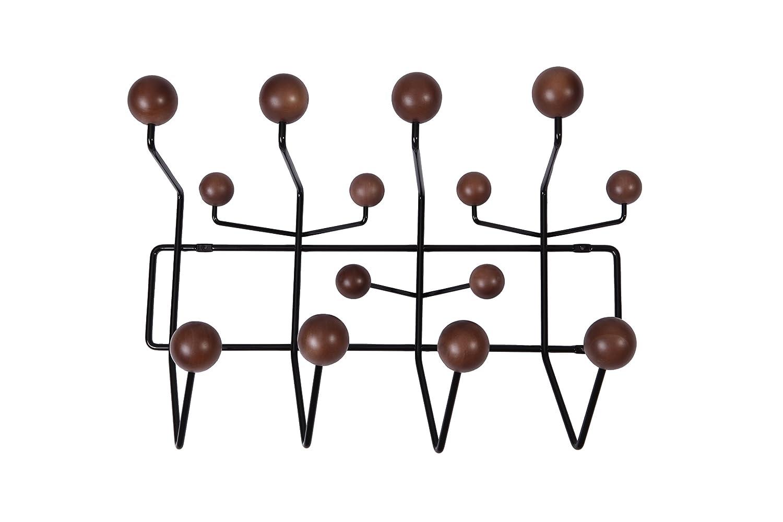 MLF Perchero de pared con bolas de madera maciza pintadas en ...