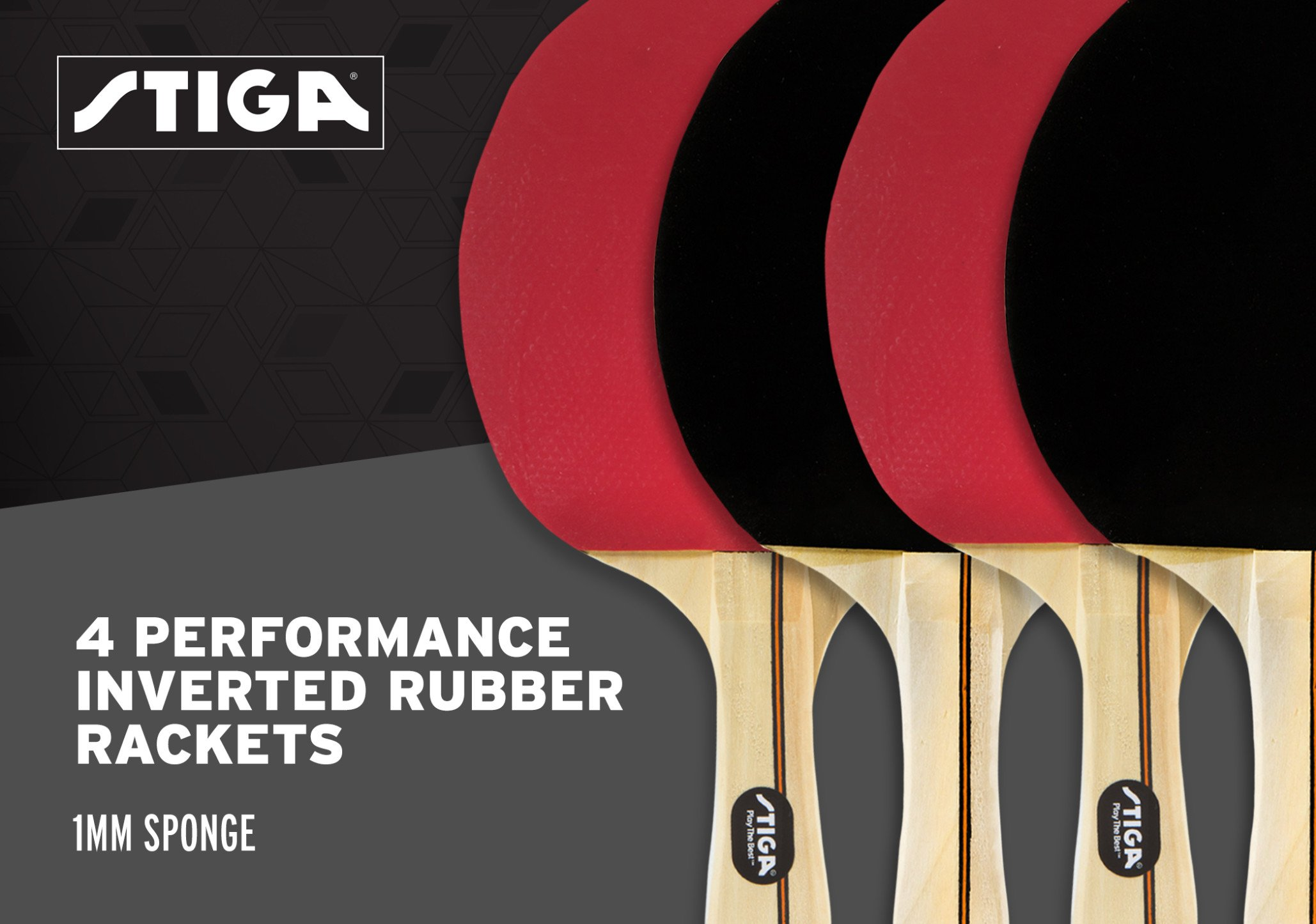 STIGA Performance 4-Player Table Tennis Racket Set with Inverted Rubber for Increased Ball Control and Added Spin by STIGA (Image #4)