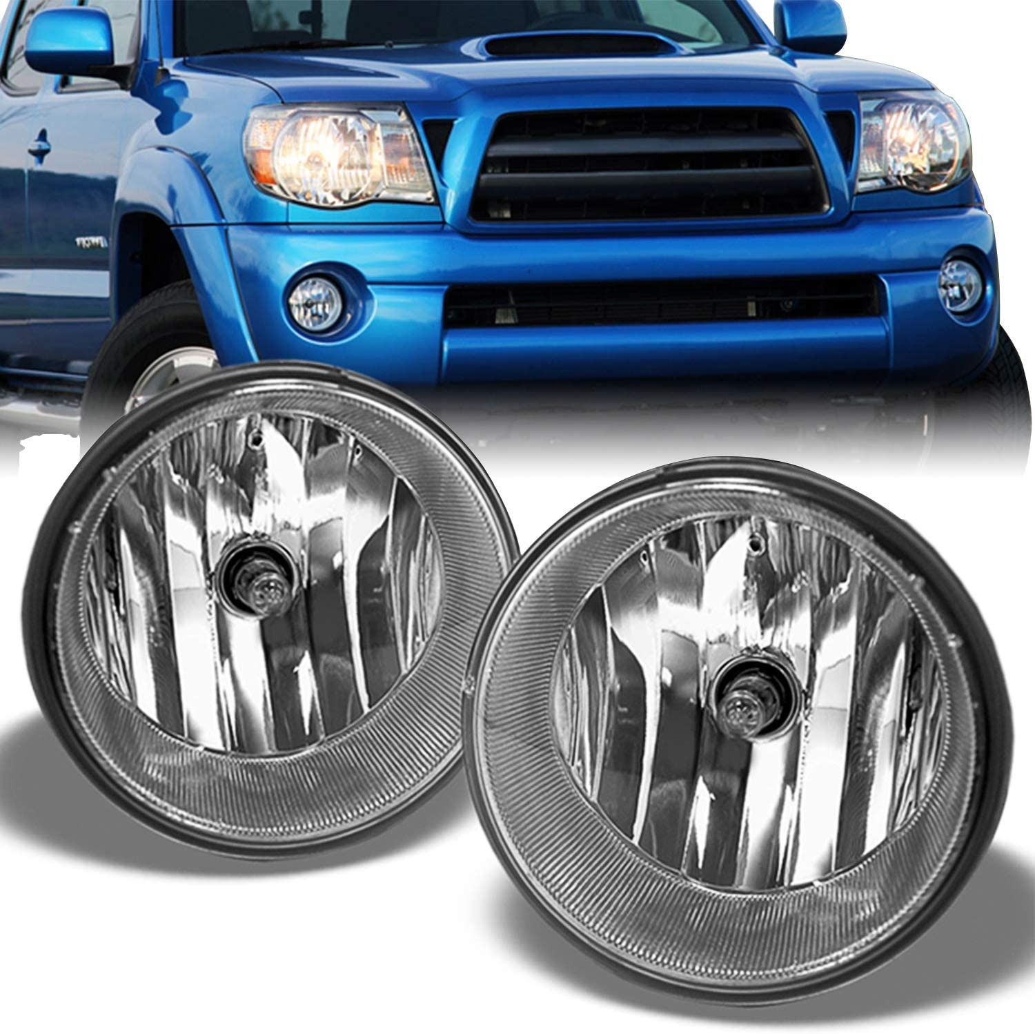 [XOTG_4463]  Amazon.com: For 05-11 Toyota Tacoma Pickup Bumper Fog Lights Driving Lamps  Set w/Bulbs + Wiring Harness + Switch: Automotive | 2009 Toyota Pick Up Wiring Harness |  | Amazon.com