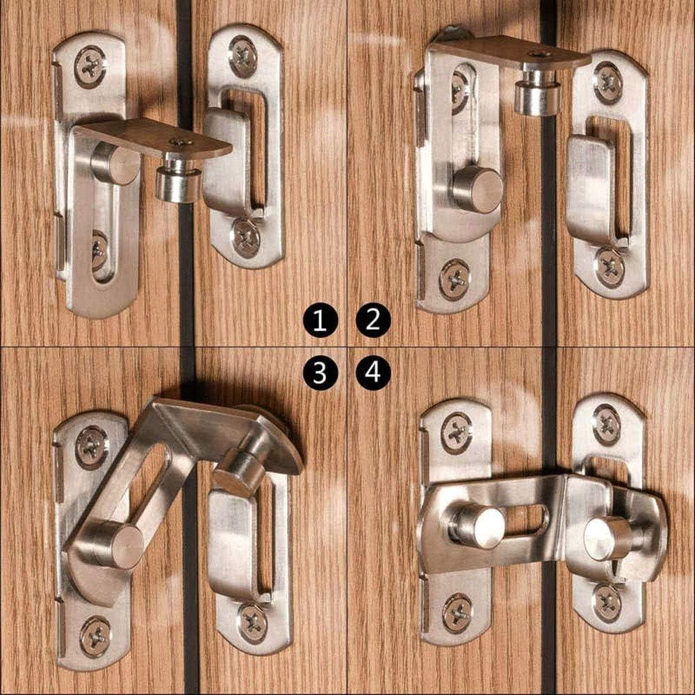 cerradura de leva con bloqueo de resorte /ángulo recto Cerradura de resorte con bloqueo de /ángulo recto de 90 grados Cerradura de puerta corredera estable 2 piezas