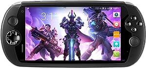 "MOQI I7S Game Phone Handheld 6"" Touchscreen Game Console, Android 8.1 SDM-710 8-Core Qualcomm Kryo 360 CPU,Adreno 616 GPU, 6GB RAM, 64GB ROM, 6000mAh Battery Support Qualcomm APTX and QC 3.0"