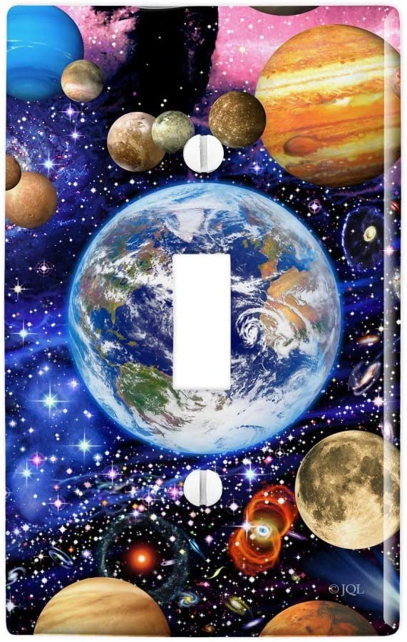 GRAPHICS & MORE Planets Solar System Earth Nebula Plastic Wall Decor Toggle Light Switch Plate Cover