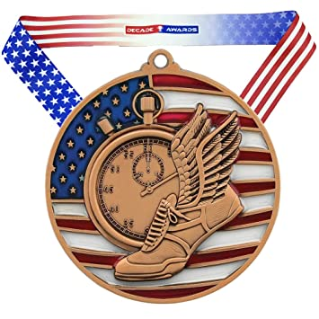 """RRP £4.49 FIVE x 5/"""" School /'Sports Day/' trophies free engraving and postage"""