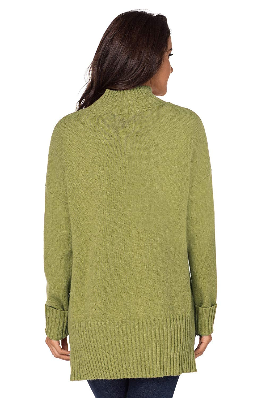 Dokotoo Damen Sweatshirt Hoher Kragen Pullover Langarm Winter Elegante Warm S-XXL