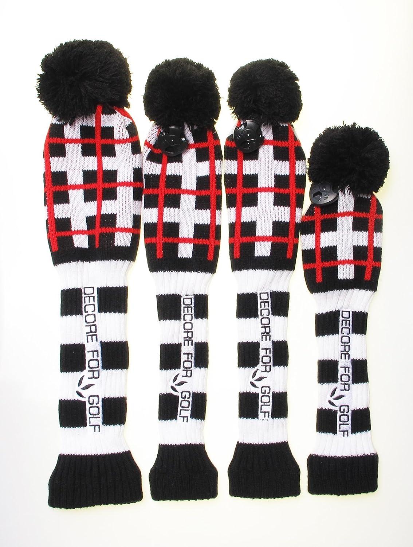 史上一番安い DECORE FOR FOR B01F9Y8530 GOLF ブラック ニットのヘッドカバー 4点セット B01F9Y8530 ブラック ブラック, 南アルプス市:73bc1da8 --- ballyshannonshow.com