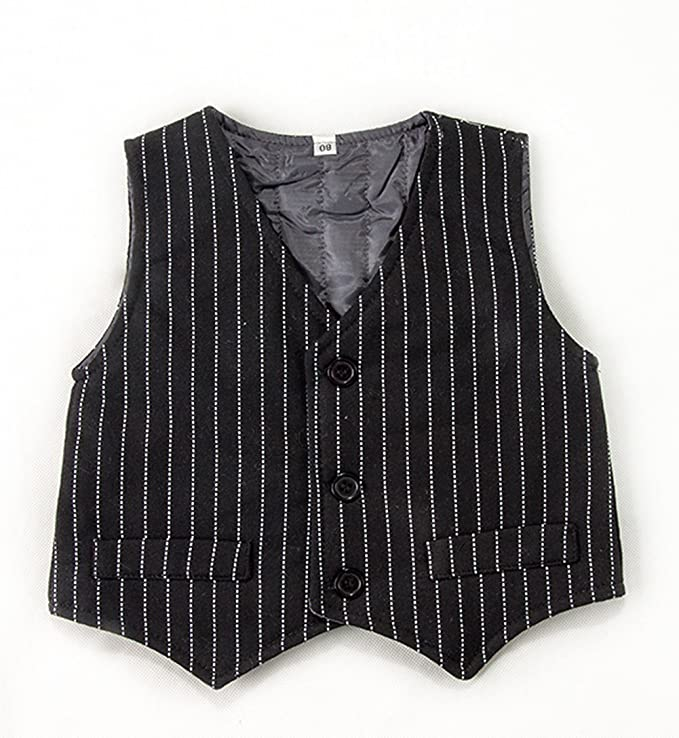 2a0c65846 Amazon.com: Stylesilove Baby Kids Boy Quilted Lined Warm Tuxedo Romper and  Vest (110/3-4 Years) Black: Clothing